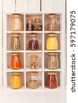 Assortment Of Dry Spices In...