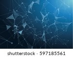 vector digital network | Shutterstock .eps vector #597185561