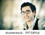 Young Caucasian Man Portrait...
