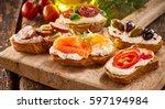 Selection Of Tasty Bruschetta...