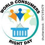 world consumers right day 15... | Shutterstock .eps vector #597195479