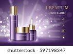 hydrating facial skincare set... | Shutterstock .eps vector #597198347