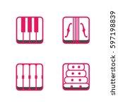 block instrumen icons   piano ...   Shutterstock .eps vector #597198839