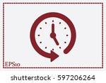 clock icon vector. | Shutterstock .eps vector #597206264