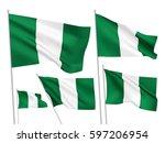 nigeria vector flags set. 5...   Shutterstock .eps vector #597206954