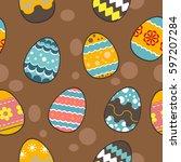 seamless pattern vector  vector ... | Shutterstock .eps vector #597207284