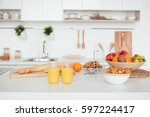 appetizing sweet orange juice... | Shutterstock . vector #597224417