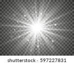 glow light effect. star burst... | Shutterstock .eps vector #597227831