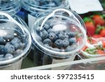 Fresh Blueberries In Plastic...