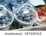 Fresh Blueberries In Plastic...