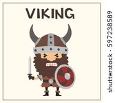 Angry Viking With Sword And...