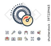 car service icons set   Shutterstock .eps vector #597239465