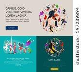 dancing people  dancer bachata  ...   Shutterstock . vector #597239894