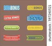 super extra bonus banners text...   Shutterstock .eps vector #597240521