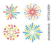 firework vector icon isolated... | Shutterstock .eps vector #597241004
