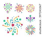 firework vector icon isolated... | Shutterstock .eps vector #597241067