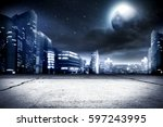 background of city street and... | Shutterstock . vector #597243995