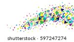 flat abstract bright creative...   Shutterstock .eps vector #597247274
