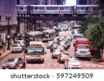 chicago  usa   june 26  2013 ... | Shutterstock . vector #597249509