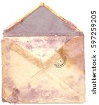 Small photo of Antique Old Moldy and Worn Air Mail ENVELOPE and LETTER with Postmarks Postage Stamp, Posted, Back Side