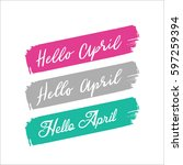 hello april letter | Shutterstock .eps vector #597259394