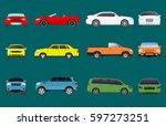 car vehicle transport type...   Shutterstock .eps vector #597273251