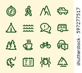 travel web icons.  vacation and ...   Shutterstock .eps vector #597277517