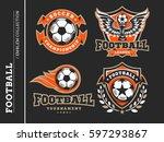 soccer football logo  emblem... | Shutterstock .eps vector #597293867