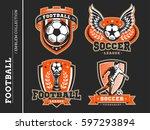 soccer football logo  emblem... | Shutterstock .eps vector #597293894