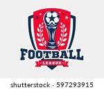 soccer football logo  emblem... | Shutterstock .eps vector #597293915