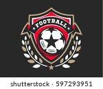 soccer football logo  emblem... | Shutterstock .eps vector #597293951