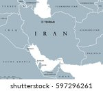 iran political map with capital ... | Shutterstock .eps vector #597296261