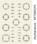 a huge rosette wicker border...   Shutterstock .eps vector #597300191
