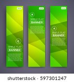 abstract banners. vector eps10... | Shutterstock .eps vector #597301247