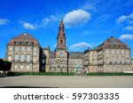 christiansborg palace in... | Shutterstock . vector #597303335