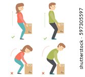 correct and incorrect... | Shutterstock .eps vector #597305597