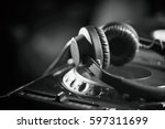 powerful dj headphones made to... | Shutterstock . vector #597311699