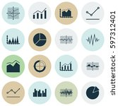 set of graphs  diagrams and... | Shutterstock .eps vector #597312401