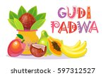 happy ugadi and gudi padwa... | Shutterstock .eps vector #597312527