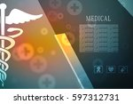 2d illustration health care and ... | Shutterstock . vector #597312731