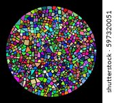 colorful mosaic background in a ... | Shutterstock .eps vector #597320051