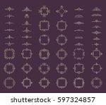 huge rosette wicker of border... | Shutterstock .eps vector #597324857