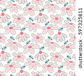 Vector Floral Pattern With Cut...