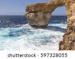 The Azure Window On Gozo  Malt...