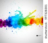 holi vector background ... | Shutterstock .eps vector #597328301