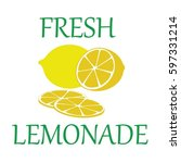 fresh juice lemonade vector | Shutterstock .eps vector #597331214