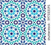geometric seamless pattern ... | Shutterstock .eps vector #597333191