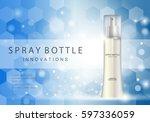 spray bottle innovations... | Shutterstock .eps vector #597336059
