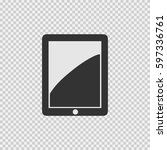tablet vector icon eps 10.... | Shutterstock .eps vector #597336761