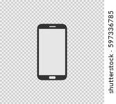smartphone vector icon eps 10... | Shutterstock .eps vector #597336785